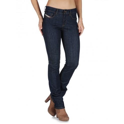 Diesel Straitzee Women's Straight Jeans - 0881K/Dark Denim
