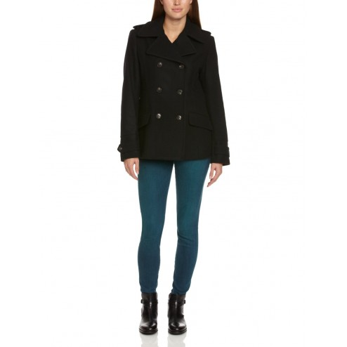 Henri Lloyd Women's Black DB Double Breasted Wool Blend Jacket
