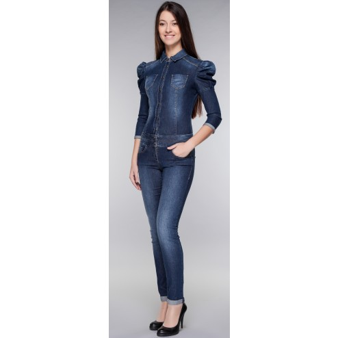 Miss Sixty Women's Denim Overall - Denim Blue