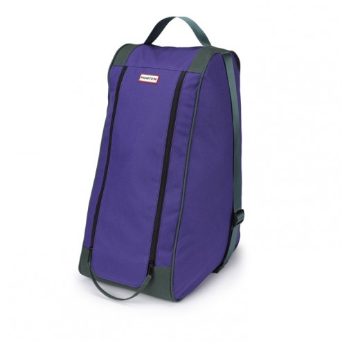 Hunter Classic Welly Boot Bag - Dark Olive/Purple