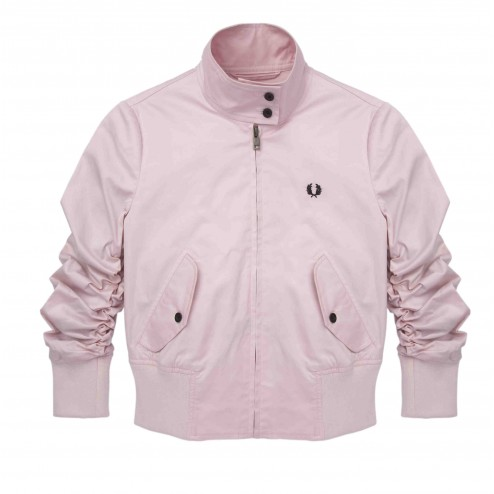 Fred Perry Pink Mist Amy Winehouse Cropped Harrington Jacket