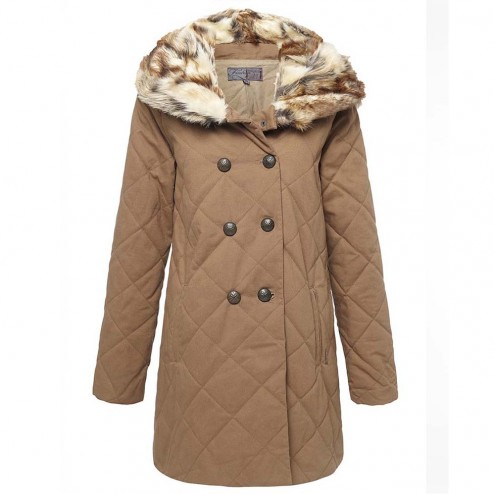 Firetrap Womens Artemis Padded Coat - Brown