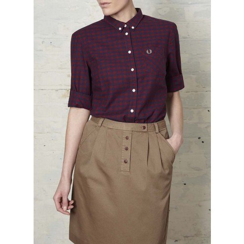 Fred Perry Womens Classic Fit Gingham Shirt
