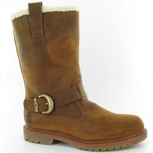 Timberland Woman's Nellie Pull On Waterproof Tan Boots