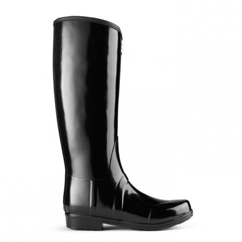 Hunter Sandhurst Equestrian Style Welly Boots - Black