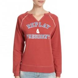 Replay W3023 Women's Sweatshirt - Red