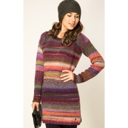 Replay DK3387 Womens Knitted Dress - Red