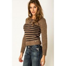 Replay DK3378 Women's Knitted Jumper - Brown