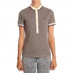 Fred Perry For The Amy Winehouse SG3106 Printed Stripe Porcelain Polo Shirt
