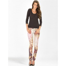 Diesel Womens Floral Printed Livier Jeggings