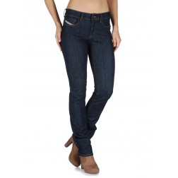 Diesel Straitzee Women's Straight Jeans - 0881K/Dark Denim