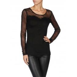 Diesel T-Vicky Women's Long Sleeve Top - Black