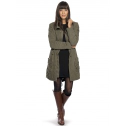 Diesel Women's Khaki Olive 00CNNN Gygio Overcoat Jacket