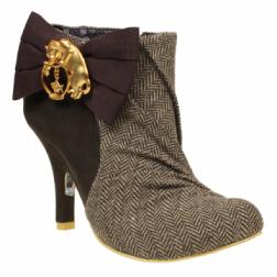 Irregular Choice Brown / Beige Tweed Another Lost Weekend Heel Shoes