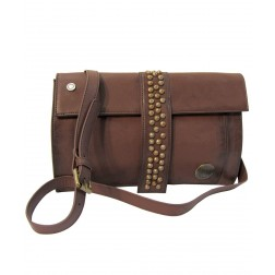 Replay FW3350 Womens Leather Clutch Bag - Brown