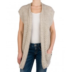 Replay DK3380 Women's Knitted Cardigan - Grey