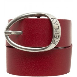 Replay AW2278 Women's Leather Belt - Red