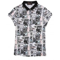 Fred Perry White Amy Winehouse Juke Box Printed Polo Shirt