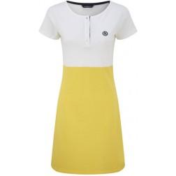Henri Lloyd Ladies Julia White and Yellow Colour Block Dress