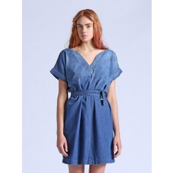 Diesel Ladies Denim De-Orion Tie Up Dress