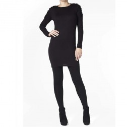 Firetrap Womens Black Anaya Long Sleeve Jersey Dress