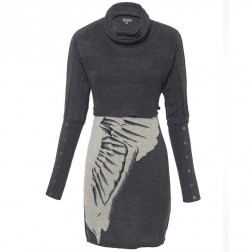 Firetrap Womens Grey Hara Printed Long Sleeve Dress