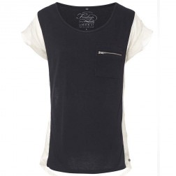 Firetrap Womens Maya Sand Black Colour Block T-Shirt