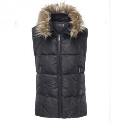 Firetrap Womens Turan Black Fur Hooded Gilet