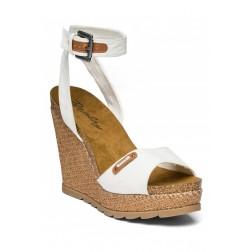 Replay Ladies Wedge Heel Off White Sandals