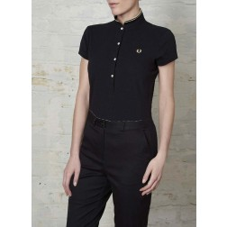 Fred Perry x Amy Winehouse Womens Stand Collar Polo Shirt