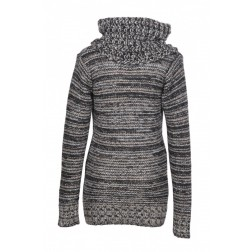 Diesel Women's 00CYPZ M-Ginet Maglia Black / Grey Cowl Neck Knitted Sweater
