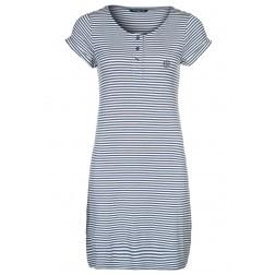 Henri Lloyd Women's Indigo White Stripes Jersey Dress