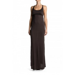 Replay Ladies Grey Jersey Maxi with Metail Ring / Corset Back