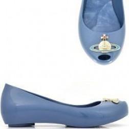 Vivienne Westwood for Melissa Blue Ultragirl Wedge Peep Toe Pumps