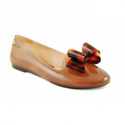 Vivienne Westwood for Melissa Virtue Brown Bow Flat Pumps