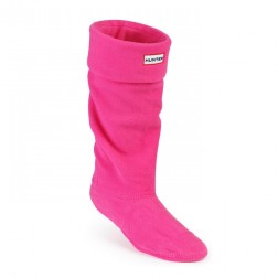 Hunter Fleece Welly Boot Socks - Fuchsia
