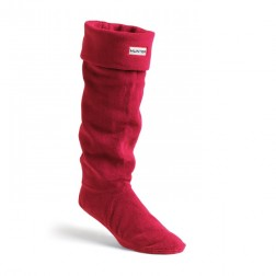 Hunter Fleece Welly Boot Socks - Red