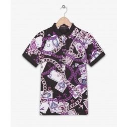 Fred Perry For Amy Winehouse Charm Print Slim Fit Polo Shirt