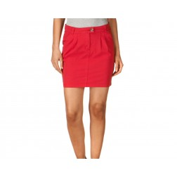 Henri Lloyd Women's Cowes Red Sofia Pleat Chino Skirt
