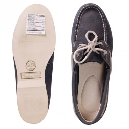 Timberland Women's Navy Two-eye Leather Classic Boat Shoes