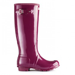 Hunter Original Tall Gloss Welly Boots - Dark Ruby