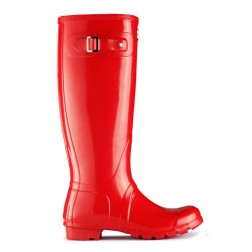 Hunter Original Tall Gloss Welly Boots - Pillar Box Red