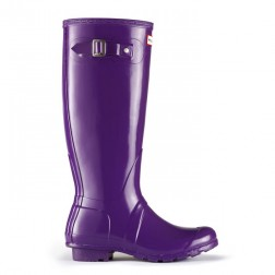 Hunter Original Tall Gloss Welly Boots - Sovereign Purple