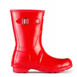 Hunter Original Short Gloss Welly Boots - Pillar Box Red