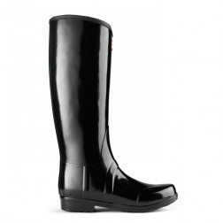 Hunter Sandhurst Equestrian Style Welly Boots - Black