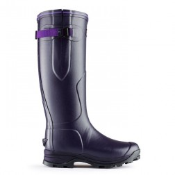Hunter Balmoral Lady Neoprene Welly Boots - Aubergine