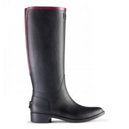 Hunter Belsize Hayden Welly Boots - Black/Dark Ruby