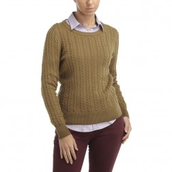 Henri Lloyd Sacha Women's Cable Knit Jumper - Olive